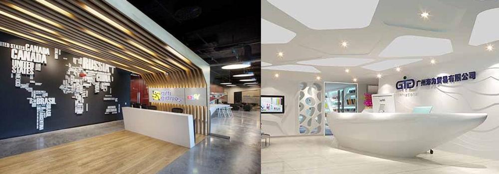 厦门形象墙设计公司_分享_创意企业前台背景墙效果图
