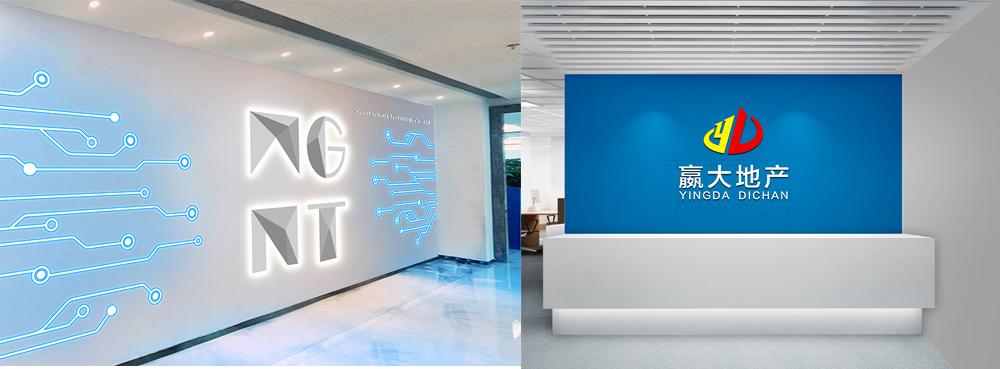 logo墙设计效果图_形象墙效果图